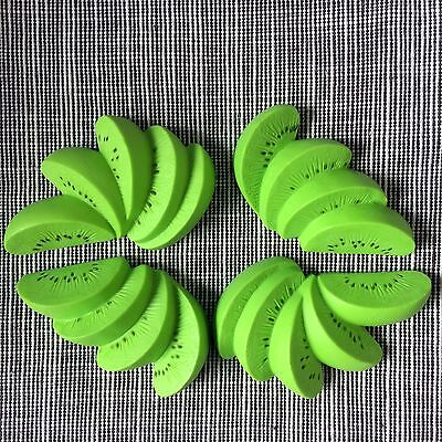 4 Pcs Kiwi Fruit Slices For 18'' American Girl Dolls Food Accessory