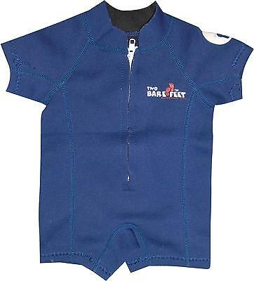 USED Boys Two Bare Feet Navy Swim Wetsuit Size 3-6 Months (S.S)