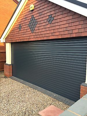 Double electric roller Garage Door Insulated Uk Manufactured 2 Remotes 3m Wide