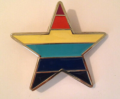 New - Colored Star Belt Buckle - Classic Trendy Design