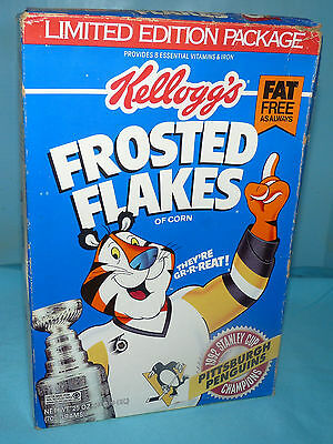 PITTSBURGH PENGUINS~1992~NHL STANLEY CUP CHAMPIONS~Frosted Flakes~25 oz~Opened