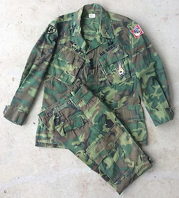 Vietnam War COL Robert Hyatt's Direct Embroidered Modified ERDL Camo Uniform