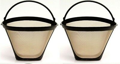 2 Pack for Cuisinart GTF-C #4 Gold Tone Permanent Replacement Coffee Filter