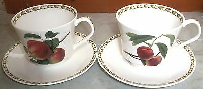 2 lovely cups and saucers - Queens, Hooker's Fruit from the RHS