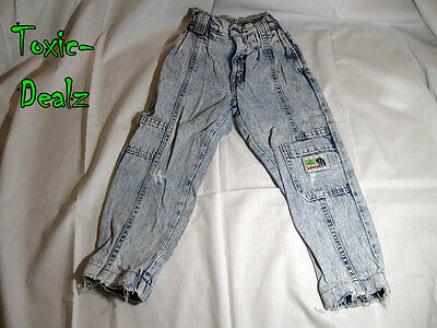 "Vintage Little Levi's 1980's Child Regular Size 6 ""Save Animals"" Acid Wash"