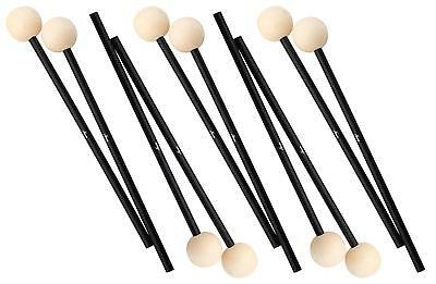 5 Pair Xylophone Vibraphone Drum Percussion Hardware Sticks Mallets Wooden Tip