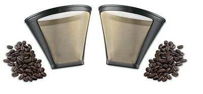Cuisinart GTF-4 Gold Tone Filter for DGB-1 Coffee Maker, 2 Pack