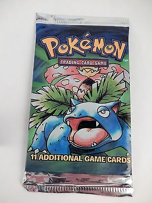 Pokemon Base set Booster Pack Venusaur art