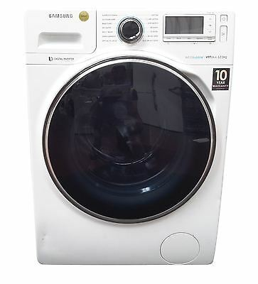 Samsung Ecobubble WW12H8420EW 12Kg Washing Machine - White / Blue - g730946