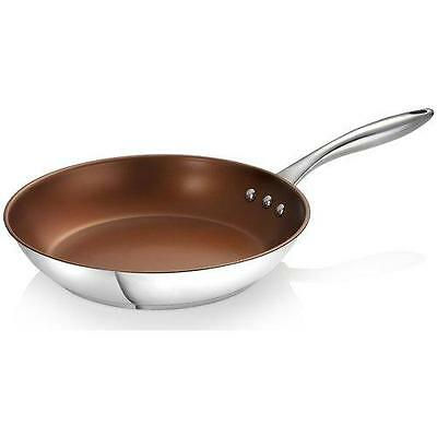"""12"""" Stainless Steel Earth Pan by Ozeri with ETERNA, a 100 PFOA and APEO Free..."""