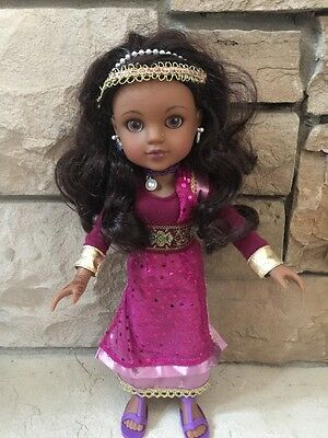"""Hearts for Hearts Girls Nahji From India 14"""" Doll Authentic Dress"""