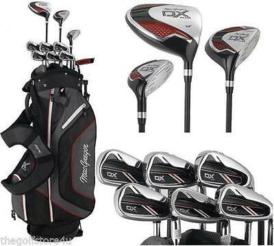 MacGregor DX PLUS Complete Golf Club Set Mens Graphite Irons Deluxe Stand Bag
