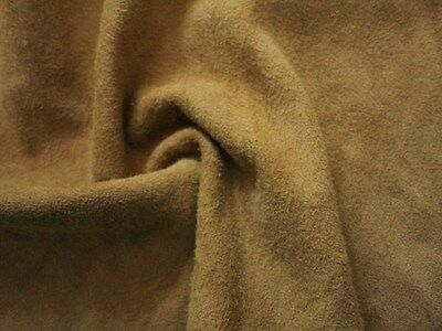 """Light tan brown thin real suede leather - 6.5"""" x 12.5"""" craft paws patch TN07"""