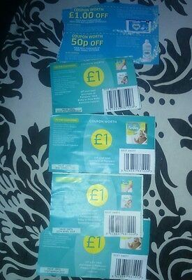 x4 PAMPERS NAPPY coupons £1 off x1 fairy NOTE EXPIRY DATE