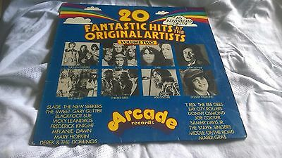 "20 Fantastic Hits by Original Artists Compilation 1972 LP 12""  Arcade Volume 2"