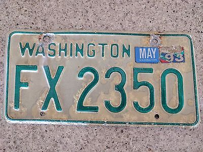 vintage washington license plate