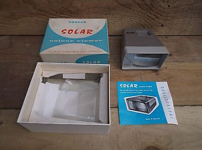 VINTAGE 1960's PHOTAX SOLAR COLOUR SLIDE VIEWER - BOXED WITH INSTRUCTIONS .