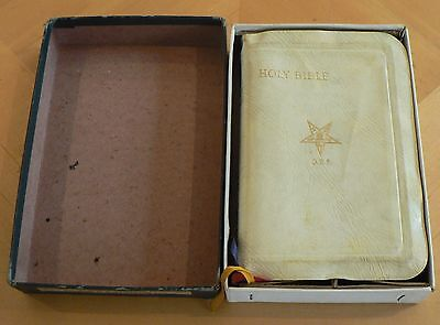 Vintage 1948 Freemasonry Masonic Oes Order Of The Eastern Star Bible Book