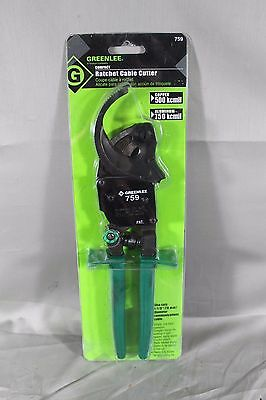 New Greenlee 759 Compact Ratchet Cable Cutter Free Shipping