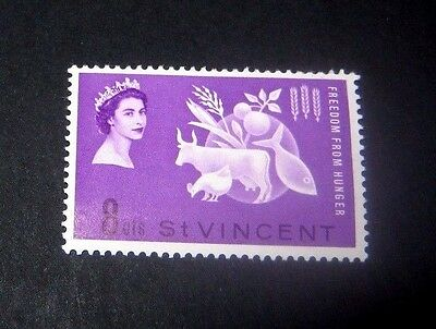 Q.E.II 1963 MINT HINGED SET OF 1 ST.VINCENT FREEDOM FROM HUNGER, ONLY 39p.