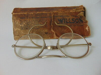 Vintage Steampunk Wilson Safety Glasses Goggles With Box