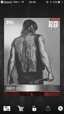 The Walking Dead Card Trader Daryl Dixon 'Red Wings' Portrait.