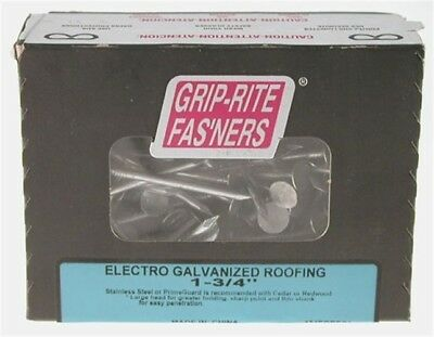 """Grip Rite 1EGRFG5 5 Lb 1"""" Electro Galvanized Roofing Nails"""