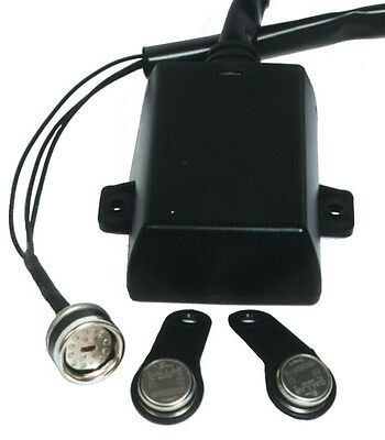 Immobiliser for 12V scooters, motorbikes, touch key, zero current consumption