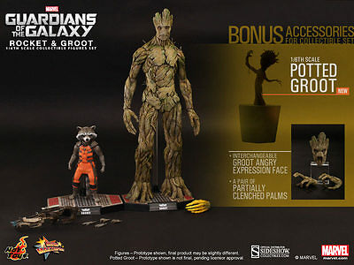 MARVEL Guardians of the Galaxy ROCKET AND GROOT 1/6 HOT TOYS