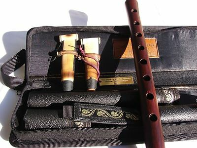 Armenian Professional Duduk Handmade from Apricot Wood in Leather Case