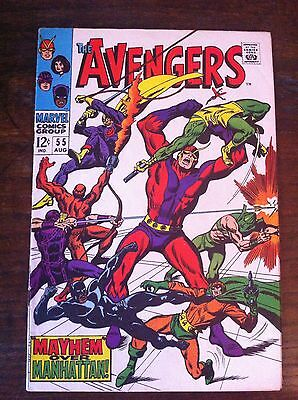 Avengers #55 1968 Silver Age Marvel Comic VG+ 1st Appearance Ultron