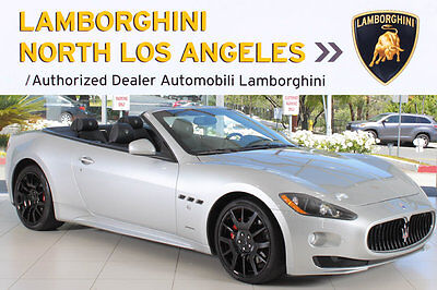 2012 Maserati Gran Turismo Sport Convertible 2-Door PIANO BLACK TRIM+TRIDENT WHEELS+F & R SENSORS+NAVIGATION