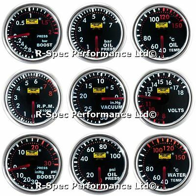ANY 3 GAUGE OFFER 52mm Smoked Super White Boost Oil Water Temp Pressure Volt RPM