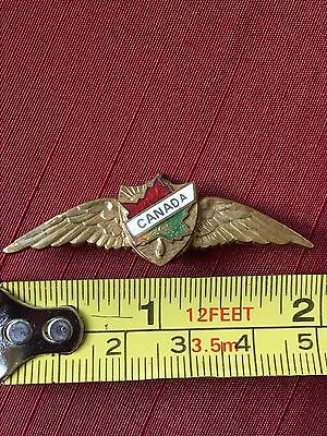 "Very Rare WWII Royal Canadian Air Force Pilot Sweetheart 2"" Wings"