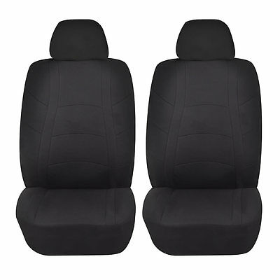 Racerline 4pc Low back Front Car Seat covers Polyester Universal Black