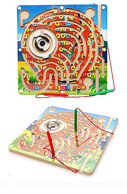 G4Rce New Elephant Magnetic Wooden Puzzle Board Kids Toddler Early Learning Game