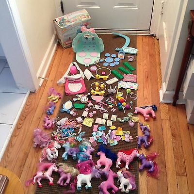 Vintage My Little Pony Lot With Lots Of Accessories Junk Drawer Lot Mixed