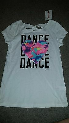 NWT Justice shirt Girl's size 8 DANCE  short sleeve