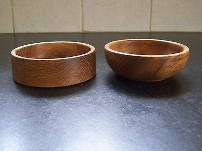 2 stunning little  wooden nut  bowls turned in  English oak a unique gift idea