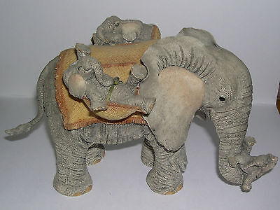 Large Country Artists Elephant Tuskers Precious Cargo CA91123 Barry Price 2004