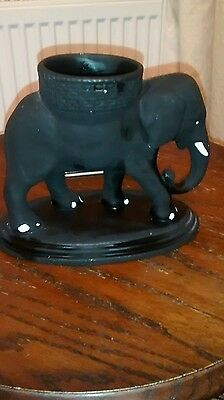 Black Elephant Ornament / Figure / Posy Vase