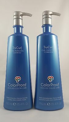 ColorProof TruCurl Curl Perfecting Shampoo and Condition 25.4 Oz 750 mL