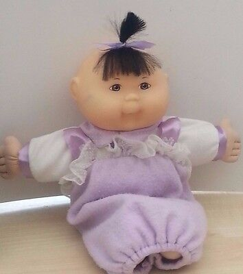 Vintage 1995 Mattel Cabbage Patch Baby Doll In Lilac Outfit