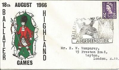 Great Britain GB  Ballater Highland Games August 1966  Aberdeenshire  3d  Cover