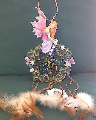 Fairy Dreamcatcher, beautiful, Nemesis Now, decorated with butterflies & flowers