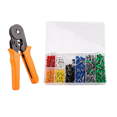 800PCS Cable Connector Adjustable Terminal Kit With Ferrule Crimper Plier Tool