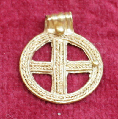 Stunning Viking Gold Cross Pendant - Circa 10Th Century Ad No Reserve!!!