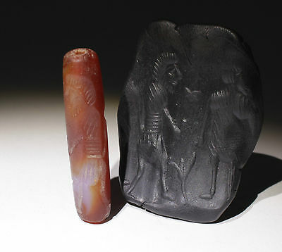 Superb Large Ancient Agate Seal - Circa 500Bc  - No Reserve   00781