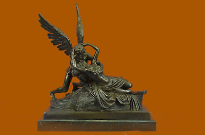 Handcrafted Detailed Museum Quality Classic Artwork Eros & Psyche Bronze Statue