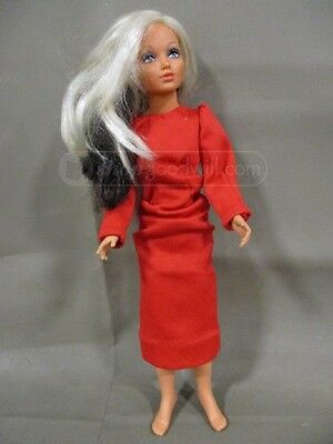 "Vintage 18.5"" Doll in Red Dress"